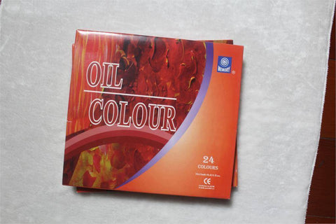 Image of Oil Paint Canvas Pigment Art Supplies 24 Colors Set