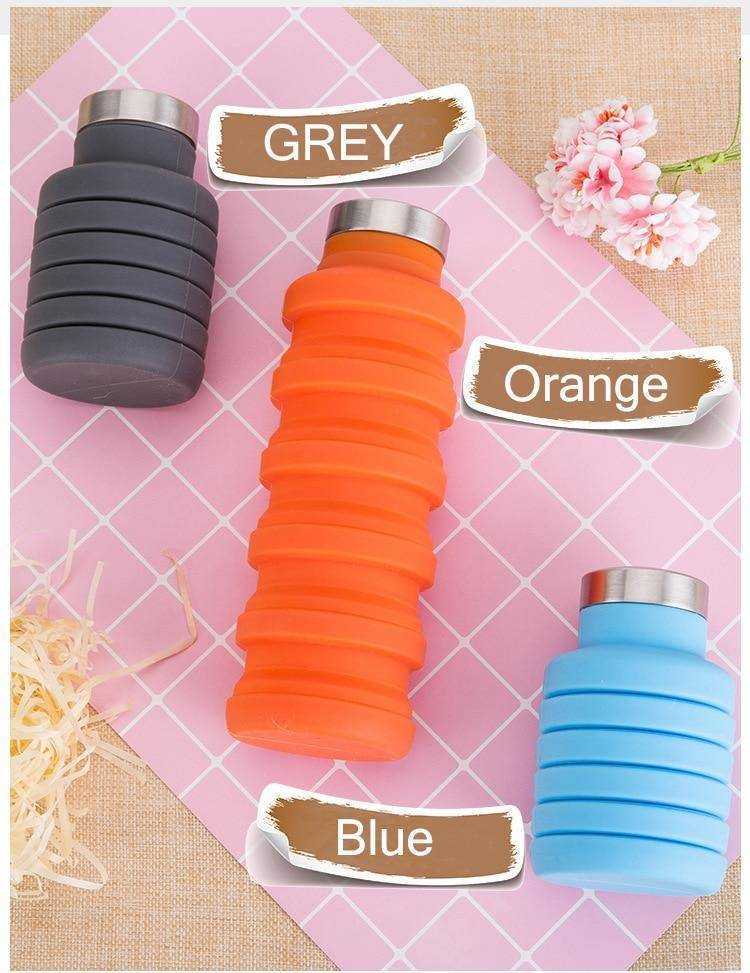 Silicone Lightweight Collapsible Water Bottle