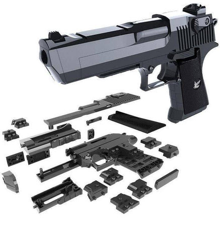 DIY Toy Gun Desert Eagle Building Blocks