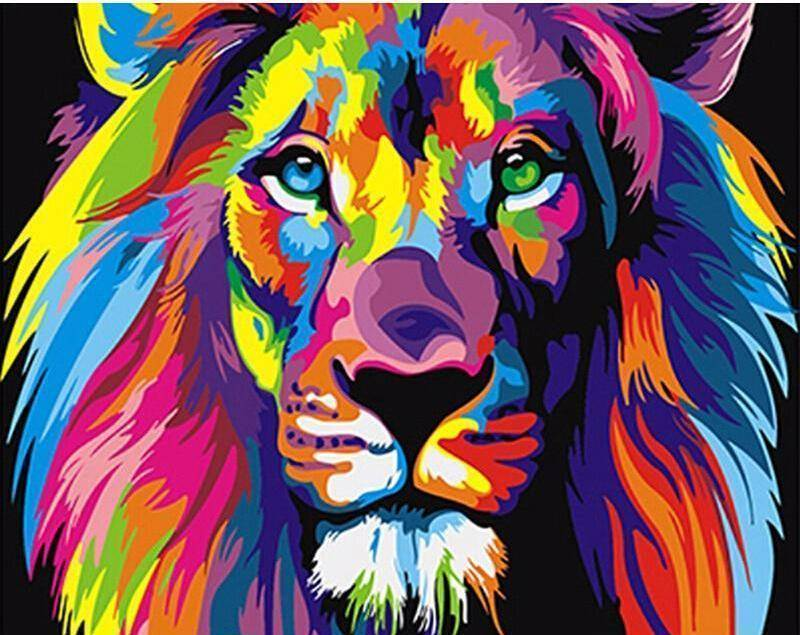 Abstract Lion DIY Painting By Number Kit