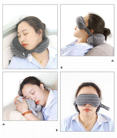 Image of 2 in 1 Travel Neck Pillow & Eye Mask