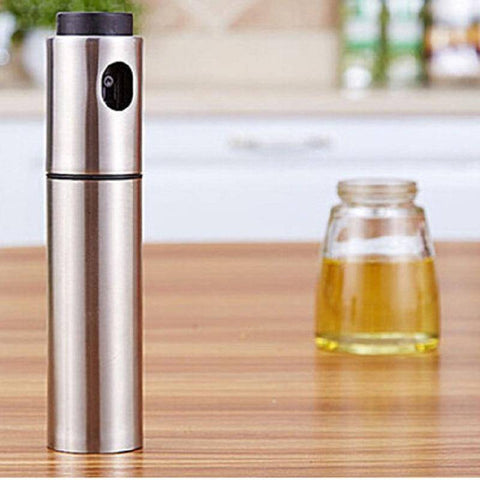 Image of Stainless Steel Olive Oil Pump Spray Bottle
