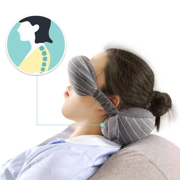 2 in 1 Travel Neck Pillow & Eye Mask