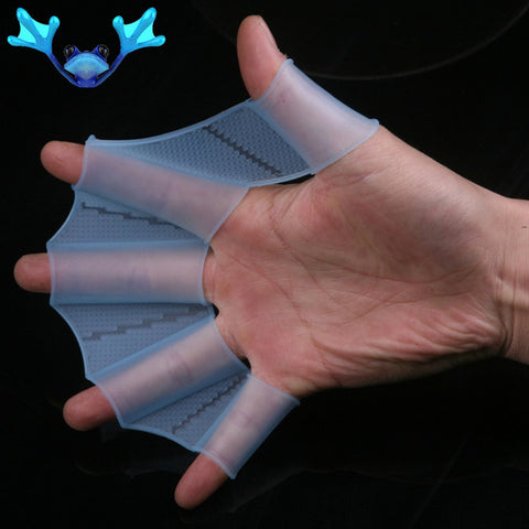 Image of Swimming Half finger Hand Fins Webbed Gloves