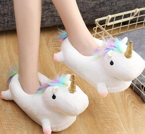 Image of Glowing LED Unicorn Slippers