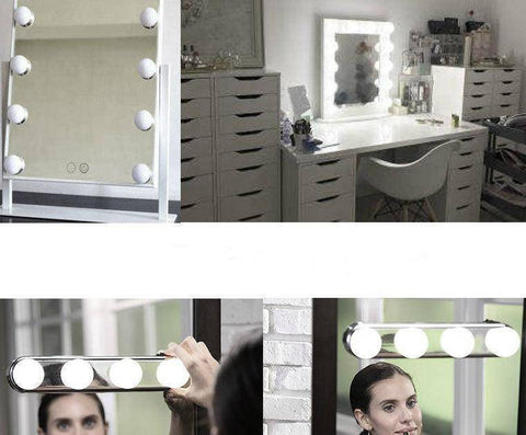 Image of 4 Bulb Hollywood Led Makeup Mirror Light