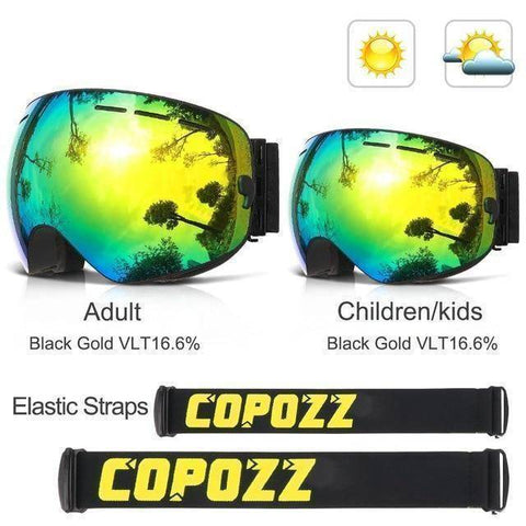UV400 Anti fog Skiing Snowboarding Glasses 2pcs Set