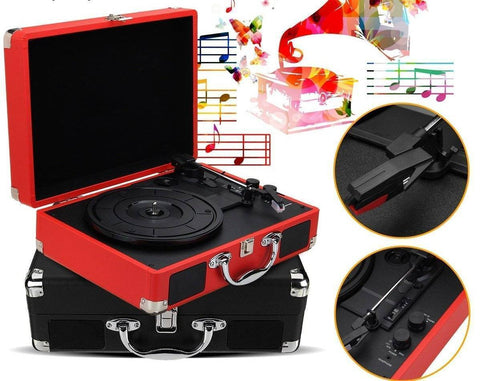 Image of Retro Bluetooth Suitcase Turntable