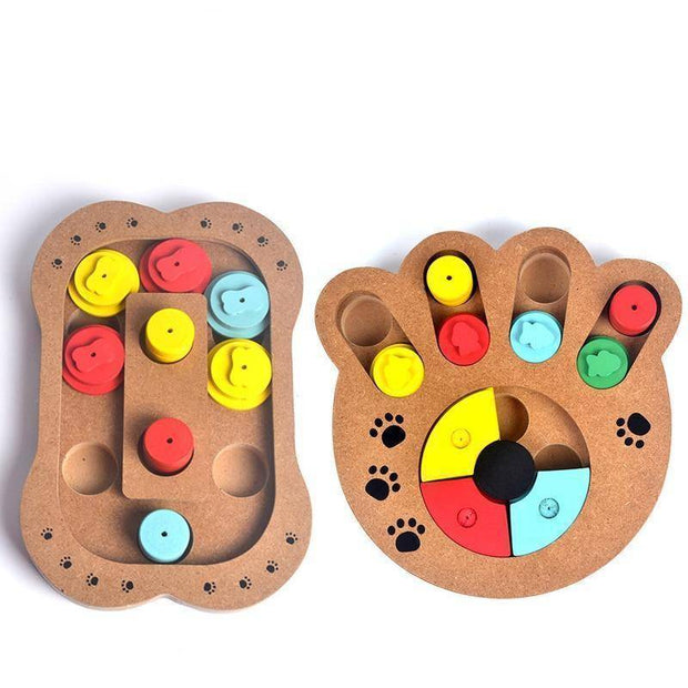 Wooden Paw Puzzle Educational Dog Toy