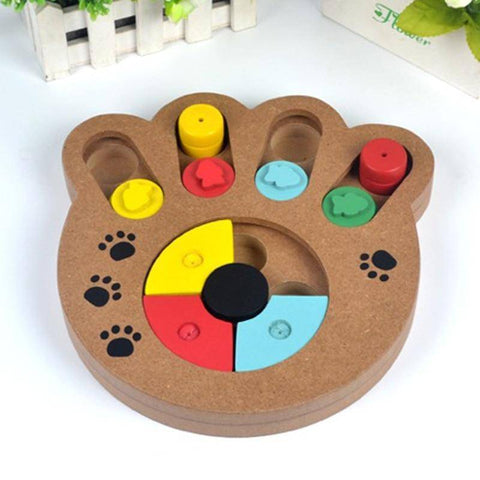 Image of Educational Wooden Paw Puzzle Dog Toy