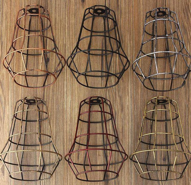 Industrial Light Cover Retro Bulb Lamp Guard Cage