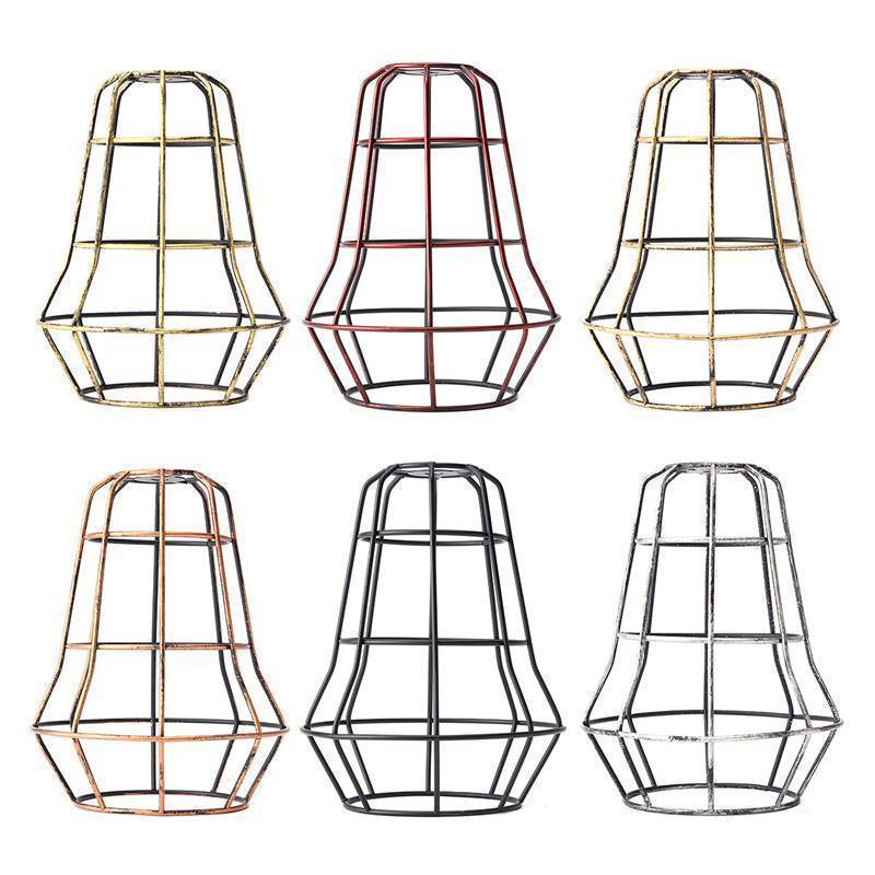 Retro Industrial Bulb Light Cover Guard Cage