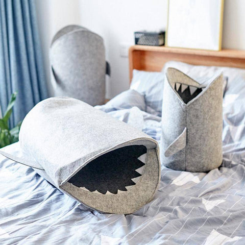 Cartoon Shark Wool Laundry Basket