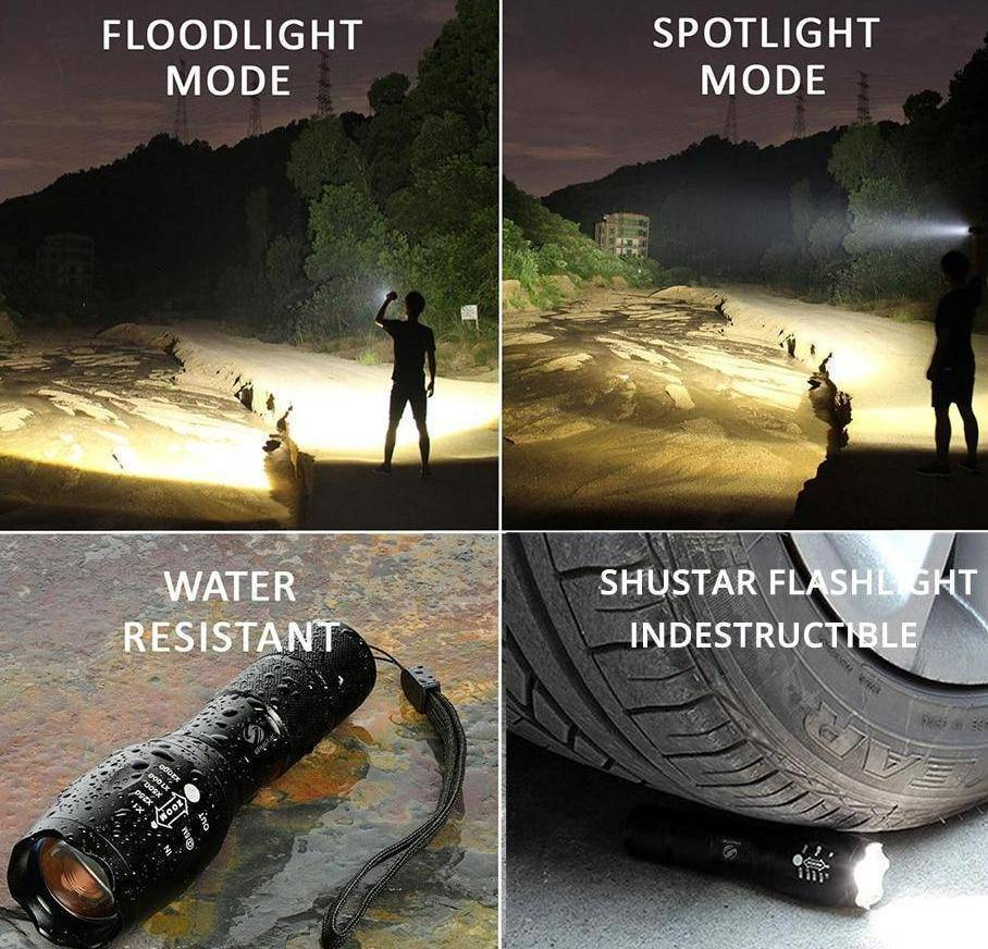 5 Switch Modes Waterproof LED Flashlight