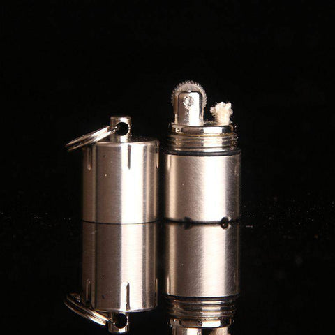 Image of Mini Compact Kerosene Lighter Key Chain Capsule