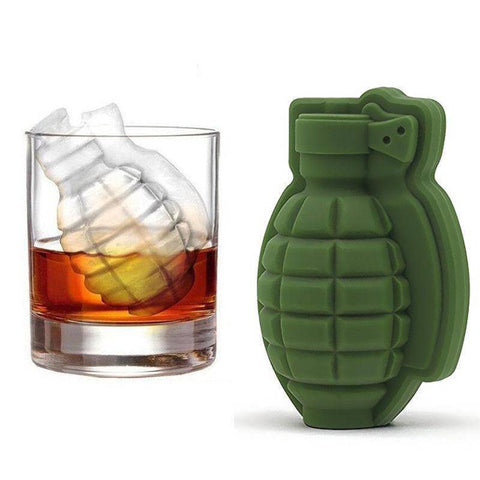 Image of 3D Ice Cube Mold Grenade Shape