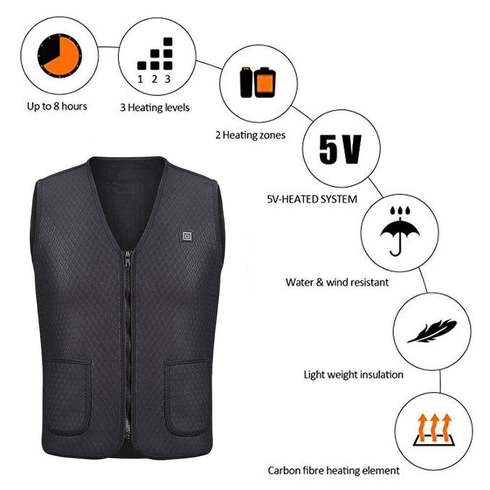 Outdoor Thermal Heating Vest
