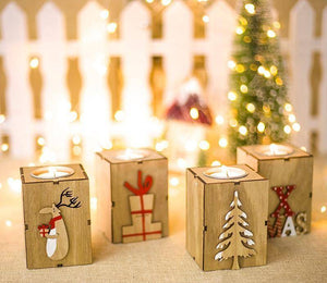 Wooden Candle Holders Home Decor