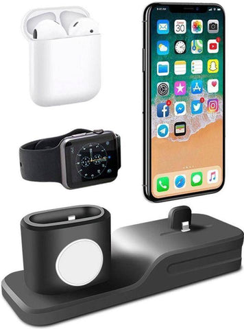 Image of 3-IN-1 Charging Dock for Iphone, Apple Watch & Earpods