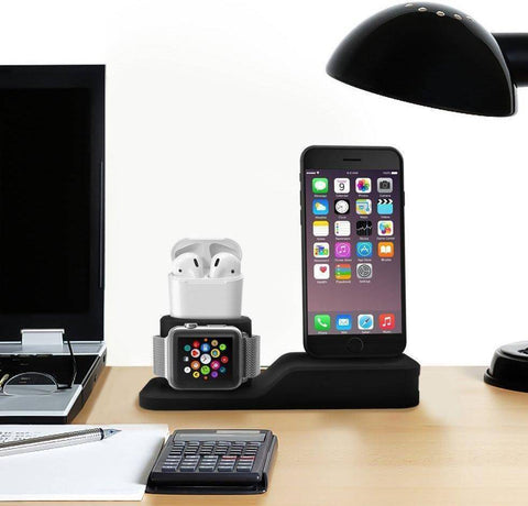 3-IN-1 Charging Dock for Iphone, Apple Watch & Earpods