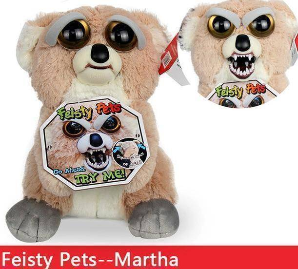 Feisty Funny Expression Pets Plush Toy