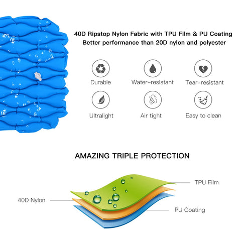 Ultralight Outdoor Inflatable Cushion Sleeping Mat