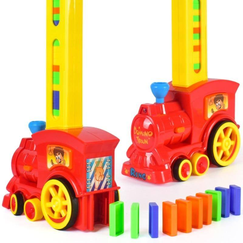 Automatic Domino Brick Laying Toy Train