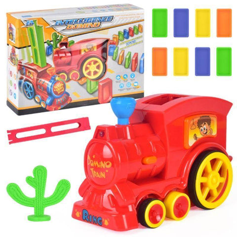 Image of Automatic Domino Brick Laying Toy Train