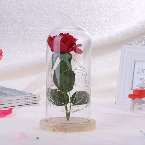Image of Enchanted Rose Flower Lamp