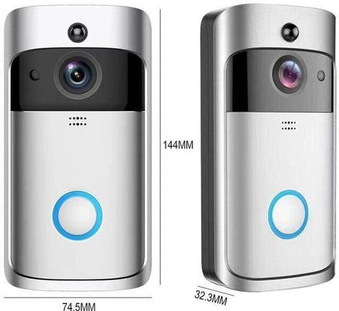 Image of Smart WIFI Doorbell with Security Camera and instant Video Call Action