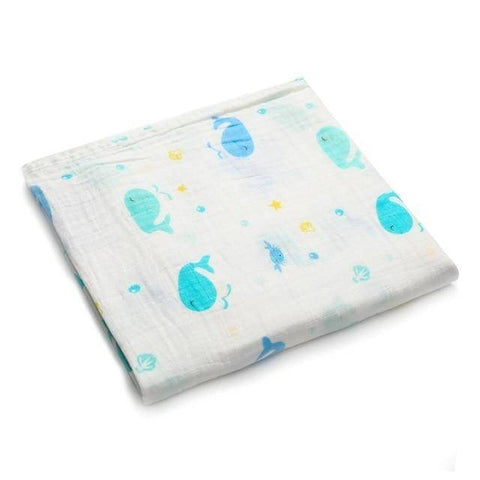 100% Cotton Baby Wrap Soft Newborn Blankets