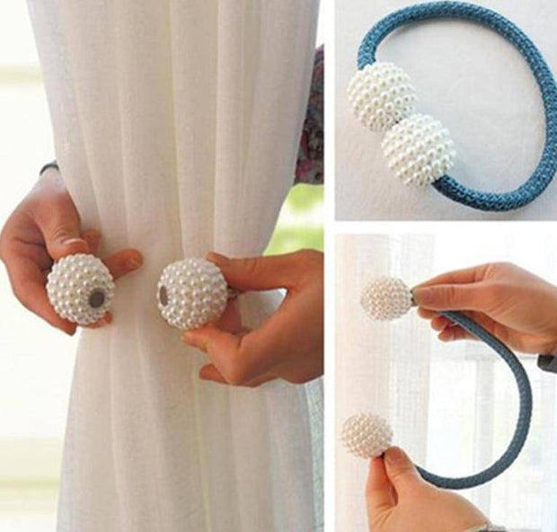 Magnetic Pearl Curtain Tie Backs