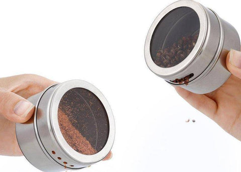 Image of Stainless Steel Magnetic Spice Jars