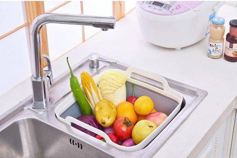 Foldable Kitchen Basket With Drain