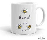 Bee Kind 2 Bees,mug - verb.ly