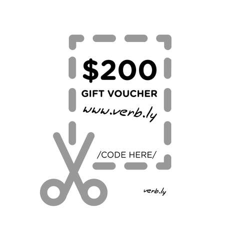 $200 Gift Voucher,Gift Voucher - verb.ly