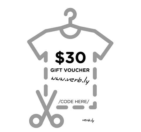 $30 Gift Voucher,Gift Voucher - verb.ly