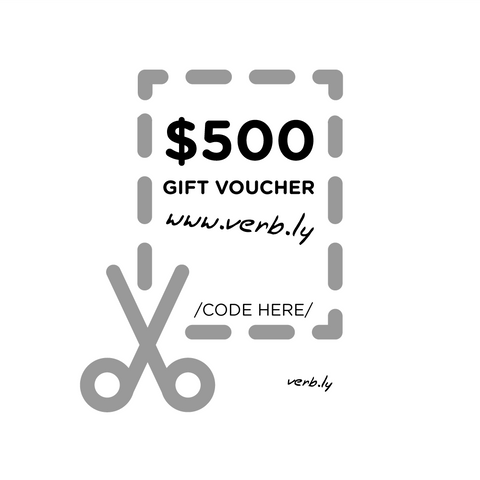 $500 Gift Voucher,Gift Voucher - verb.ly
