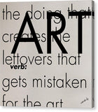 ART, verb:,Canvas Print - verb.ly