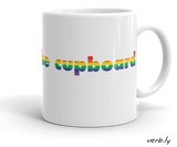 Gay-Mug-Gay Mug / LGBT+ Mug – Out of the Cupboard-www.verb.ly