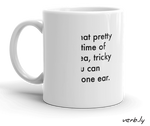 Deaf in One Ear Mug,mug - verb.ly