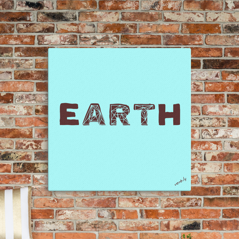 Earth Art, Canvas Print