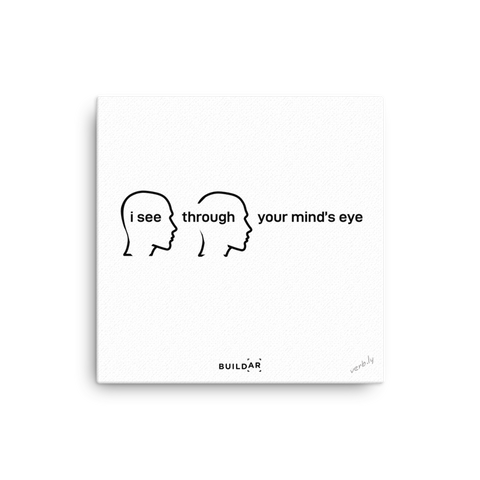 Mind's Eye (buildar work sample),canvas art - verb.ly