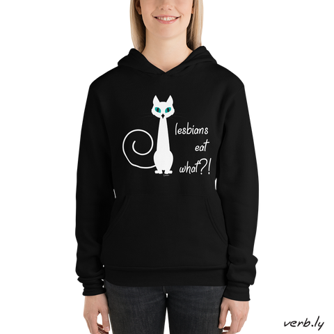Lesbians eat what?! – unisex hoodie,hoodies - verb.ly