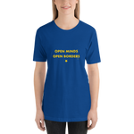 Open Minds Open Borders, Unisex T-Shirt,t-shirt - verb.ly