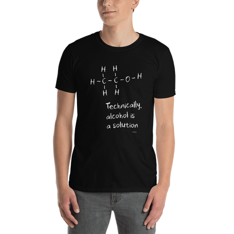elon musk t-shirt – technically alcohol is a solution