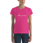 Follow Yourself, Women's T-shirt, Classic fit,t-shirt - verb.ly