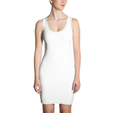 Fitted Dress – with verb.ly concept all-over print,Dress - verb.ly
