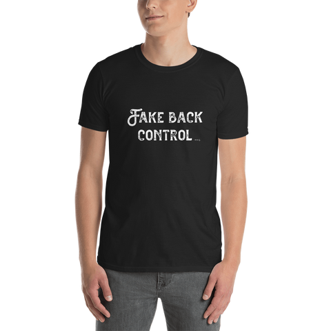 Brexit-Tshirt-Fake Back Control, Unisex T-Shirt-www.verb.ly