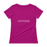If you have to ask, you can't afford me. Ladies' Scoopneck T-Shirt,t-shirt - verb.ly